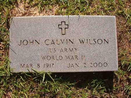 WILSON (VETERAN WWII), JOHN CALVIN - Columbia County, Arkansas | JOHN CALVIN WILSON (VETERAN WWII) - Arkansas Gravestone Photos
