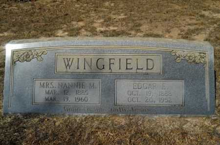 WINGFIELD, EDGAR E - Columbia County, Arkansas | EDGAR E WINGFIELD - Arkansas Gravestone Photos