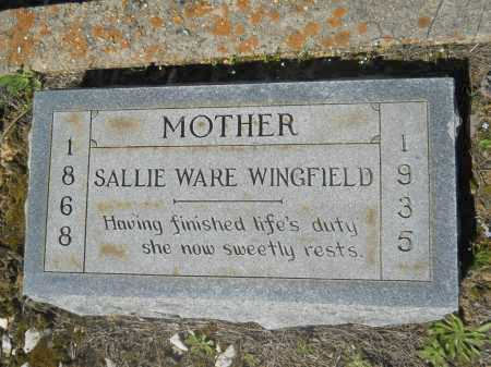 WARE WINGFIELD, SALLIE - Columbia County, Arkansas | SALLIE WARE WINGFIELD - Arkansas Gravestone Photos