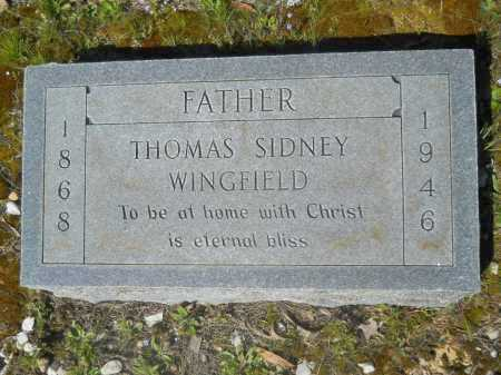 WINGFIELD, THOMAS SIDNEY - Columbia County, Arkansas | THOMAS SIDNEY WINGFIELD - Arkansas Gravestone Photos