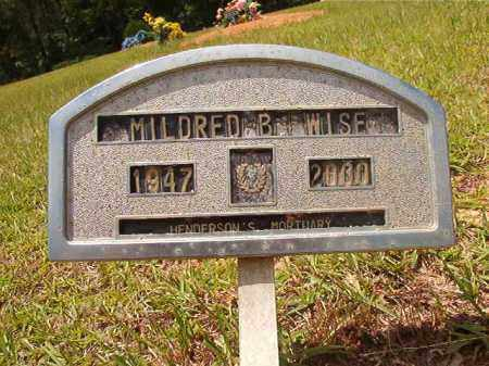 WISE, MILDRED B - Columbia County, Arkansas | MILDRED B WISE - Arkansas Gravestone Photos