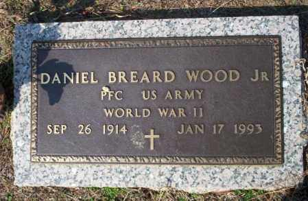 WOOD, JR (VETERAN WWII), DANIEL BREARD - Columbia County, Arkansas | DANIEL BREARD WOOD, JR (VETERAN WWII) - Arkansas Gravestone Photos