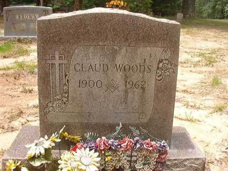 WOODS, CLAUD - Columbia County, Arkansas | CLAUD WOODS - Arkansas Gravestone Photos