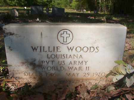 WOODS (VETERAN WWII), WILLIE - Columbia County, Arkansas | WILLIE WOODS (VETERAN WWII) - Arkansas Gravestone Photos