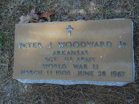WOODWARD, JR (VETERAN WWII), PETER J - Columbia County, Arkansas   PETER J WOODWARD, JR (VETERAN WWII) - Arkansas Gravestone Photos