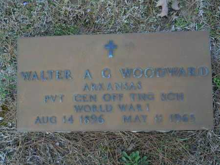 WOODWARD (VETERAN WWI), WALTER A G - Columbia County, Arkansas | WALTER A G WOODWARD (VETERAN WWI) - Arkansas Gravestone Photos