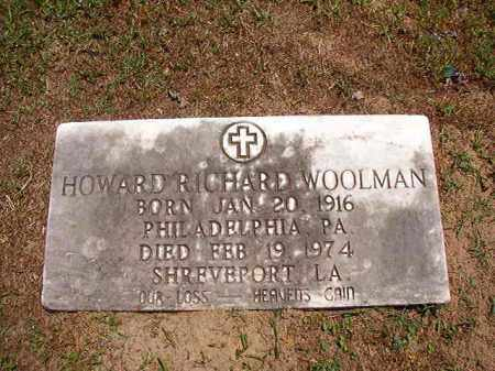 WOOLMAN, HOWARD RICHARD - Columbia County, Arkansas | HOWARD RICHARD WOOLMAN - Arkansas Gravestone Photos
