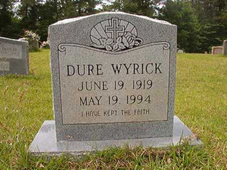 WYRICK, DURE - Columbia County, Arkansas | DURE WYRICK - Arkansas Gravestone Photos