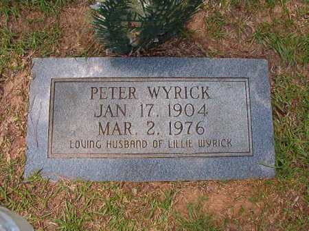 WYRICK, PETER - Columbia County, Arkansas | PETER WYRICK - Arkansas Gravestone Photos