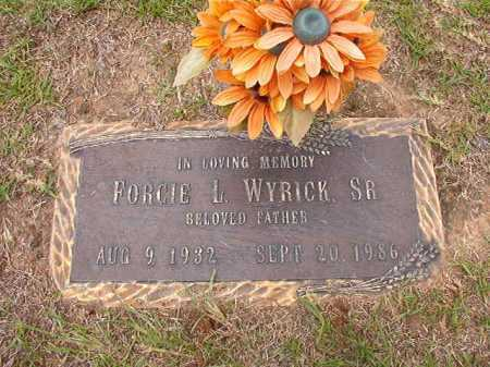 WYRICK, SR, FORCIE L - Columbia County, Arkansas | FORCIE L WYRICK, SR - Arkansas Gravestone Photos