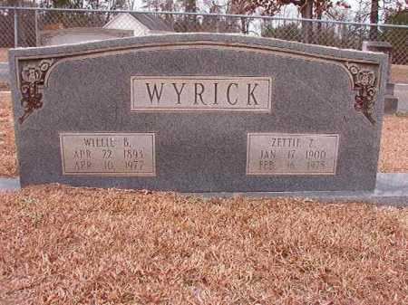 WYRICK, WILLIE B - Columbia County, Arkansas | WILLIE B WYRICK - Arkansas Gravestone Photos
