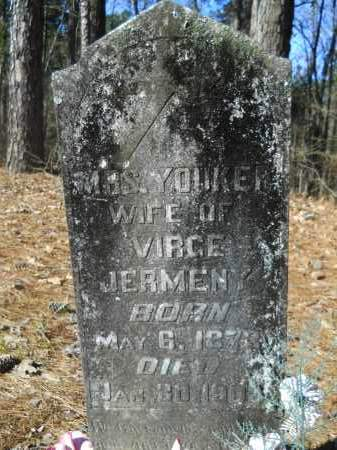 JERMENY, MRS, YOUKER - Columbia County, Arkansas | YOUKER JERMENY, MRS - Arkansas Gravestone Photos