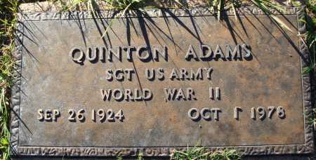 ADAMS  (VETERAN WWII), QUINTON - Conway County, Arkansas | QUINTON ADAMS  (VETERAN WWII) - Arkansas Gravestone Photos