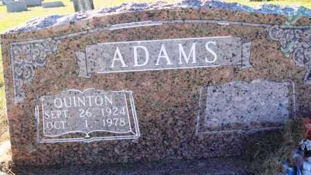 ADAMS, QUINTON - Conway County, Arkansas | QUINTON ADAMS - Arkansas Gravestone Photos
