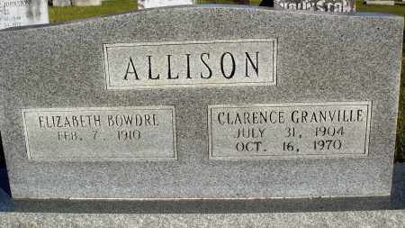 ALLISON, CLARENCE GRANVILLE - Conway County, Arkansas | CLARENCE GRANVILLE ALLISON - Arkansas Gravestone Photos