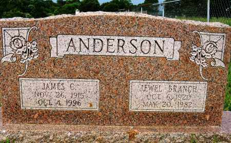 BRANCH ANDERSON, JEWEL - Conway County, Arkansas | JEWEL BRANCH ANDERSON - Arkansas Gravestone Photos