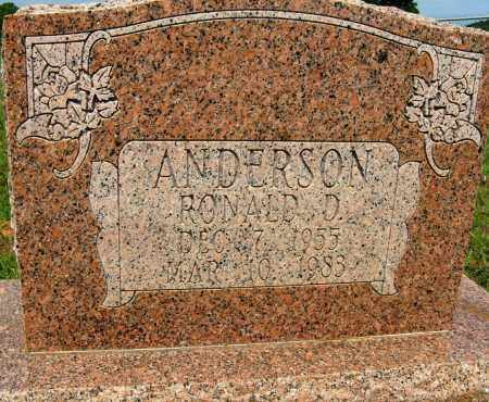 ANDERSON, RONALD D - Conway County, Arkansas | RONALD D ANDERSON - Arkansas Gravestone Photos