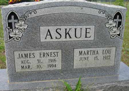 ASKUE, JAMES ERNEST - Conway County, Arkansas | JAMES ERNEST ASKUE - Arkansas Gravestone Photos