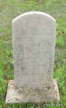BAKER, JOHN - Conway County, Arkansas | JOHN BAKER - Arkansas Gravestone Photos
