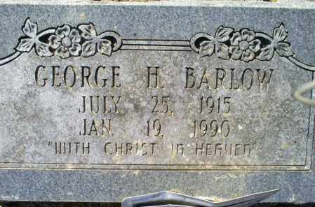 BARLOW, GEORGE H. - Conway County, Arkansas | GEORGE H. BARLOW - Arkansas Gravestone Photos