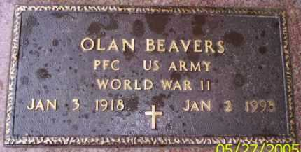 BEAVERS (VETERAN WWII), OLAN - Conway County, Arkansas | OLAN BEAVERS (VETERAN WWII) - Arkansas Gravestone Photos