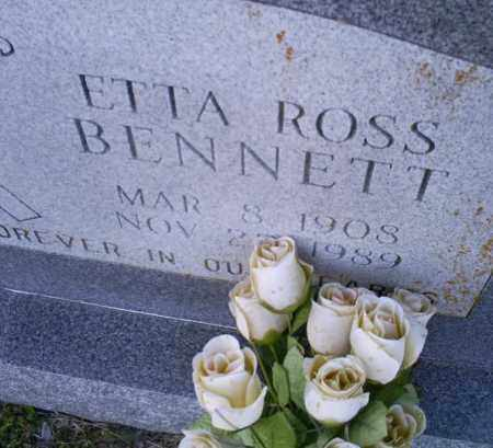ROSS BENNETT, ETTA - Conway County, Arkansas | ETTA ROSS BENNETT - Arkansas Gravestone Photos