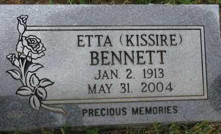 KISSIRE BENNETT, ETTA - Conway County, Arkansas | ETTA KISSIRE BENNETT - Arkansas Gravestone Photos