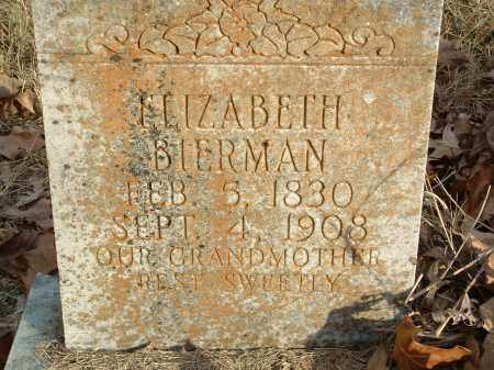 BIERMAN, ELIZABETH - Conway County, Arkansas | ELIZABETH BIERMAN - Arkansas Gravestone Photos
