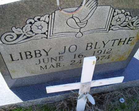 BLYTHE, LIBBY JO - Conway County, Arkansas | LIBBY JO BLYTHE - Arkansas Gravestone Photos