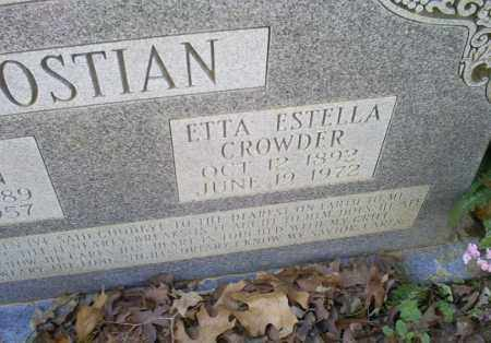 BOSTIAN, ETTA ESTELLA - Conway County, Arkansas | ETTA ESTELLA BOSTIAN - Arkansas Gravestone Photos