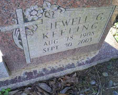 KEELING BOSTIAN, JEWELL G. - Conway County, Arkansas | JEWELL G. KEELING BOSTIAN - Arkansas Gravestone Photos
