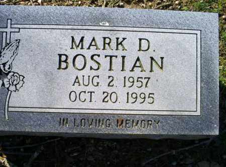 BOSTIAN, MARK D. - Conway County, Arkansas | MARK D. BOSTIAN - Arkansas Gravestone Photos