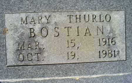 THURLO BOSTIAN, MARY - Conway County, Arkansas | MARY THURLO BOSTIAN - Arkansas Gravestone Photos