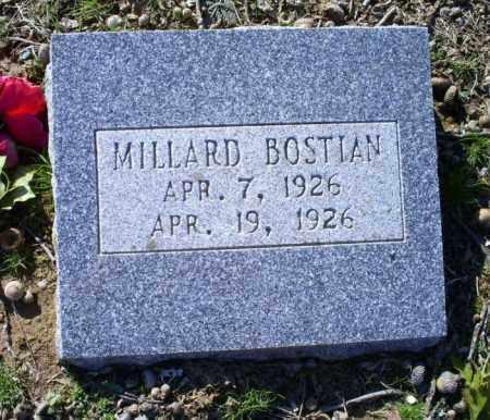 BOSTIAN, MILLARD - Conway County, Arkansas | MILLARD BOSTIAN - Arkansas Gravestone Photos