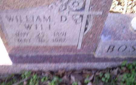 BOSTIAN, WILLIAM D. - Conway County, Arkansas | WILLIAM D. BOSTIAN - Arkansas Gravestone Photos