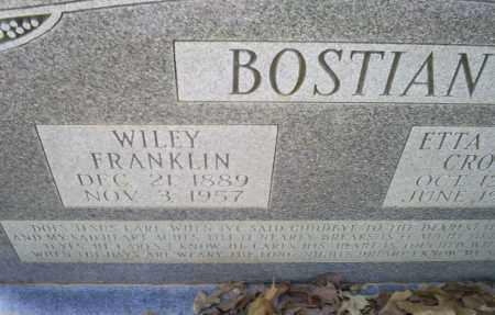 BOSTIAN, WILEY FRANKLIN - Conway County, Arkansas | WILEY FRANKLIN BOSTIAN - Arkansas Gravestone Photos