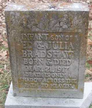 BRADSHAW, INFANT SON - Conway County, Arkansas | INFANT SON BRADSHAW - Arkansas Gravestone Photos