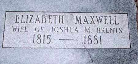 MAXWELL BRENTS, ELIZABETH - Conway County, Arkansas | ELIZABETH MAXWELL BRENTS - Arkansas Gravestone Photos