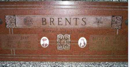BRENTS, LEON JAKE - Conway County, Arkansas | LEON JAKE BRENTS - Arkansas Gravestone Photos