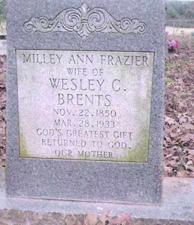 FRAZIER BRENTS, MILLEY ANN - Conway County, Arkansas | MILLEY ANN FRAZIER BRENTS - Arkansas Gravestone Photos
