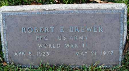 BREWER  (VETERAN WWII), ROBERT E - Conway County, Arkansas | ROBERT E BREWER  (VETERAN WWII) - Arkansas Gravestone Photos