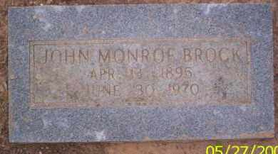 BROCK, JOHN MONROE - Conway County, Arkansas | JOHN MONROE BROCK - Arkansas Gravestone Photos