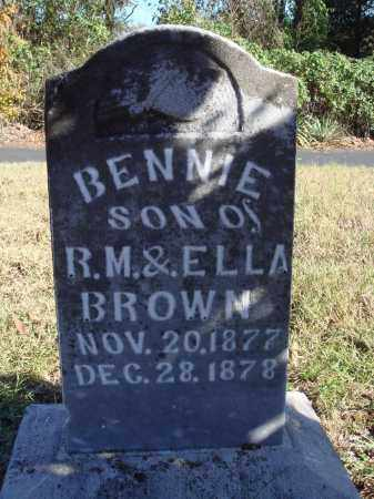 BROWN, BENNIE - Conway County, Arkansas | BENNIE BROWN - Arkansas Gravestone Photos
