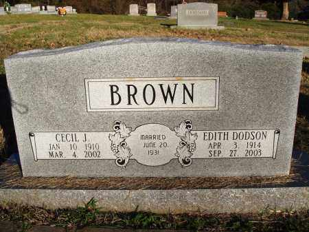 BROWN, CECIL J. - Conway County, Arkansas | CECIL J. BROWN - Arkansas Gravestone Photos