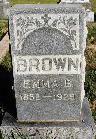 BROWN, EMMA B. - Conway County, Arkansas | EMMA B. BROWN - Arkansas Gravestone Photos