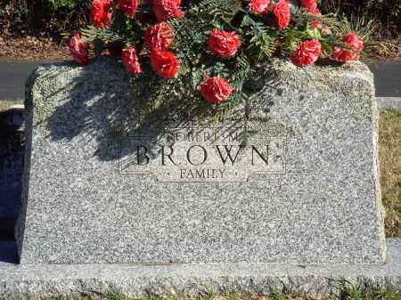 BROWN, ROBERT M. FAMILY - Conway County, Arkansas | ROBERT M. FAMILY BROWN - Arkansas Gravestone Photos