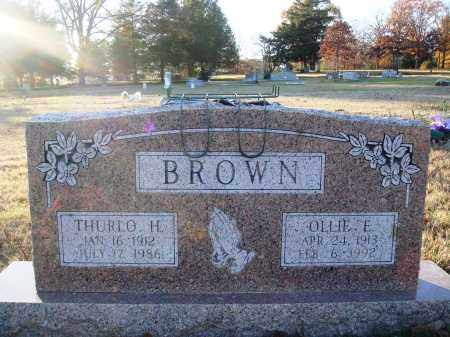 BROWN, OLLIE ELIZABETH - Conway County, Arkansas | OLLIE ELIZABETH BROWN - Arkansas Gravestone Photos