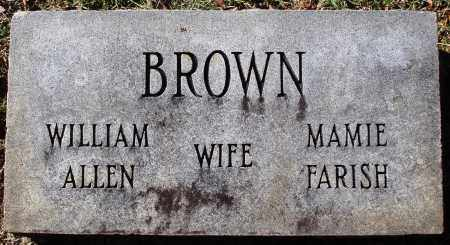 BROWN, WILLIAM ALLEN - Conway County, Arkansas | WILLIAM ALLEN BROWN - Arkansas Gravestone Photos
