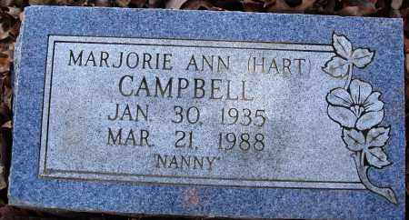 HART CAMPBELL, MARJORIE ANN - Conway County, Arkansas | MARJORIE ANN HART CAMPBELL - Arkansas Gravestone Photos