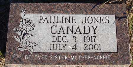 JONES CANADY, PAULINE - Conway County, Arkansas | PAULINE JONES CANADY - Arkansas Gravestone Photos